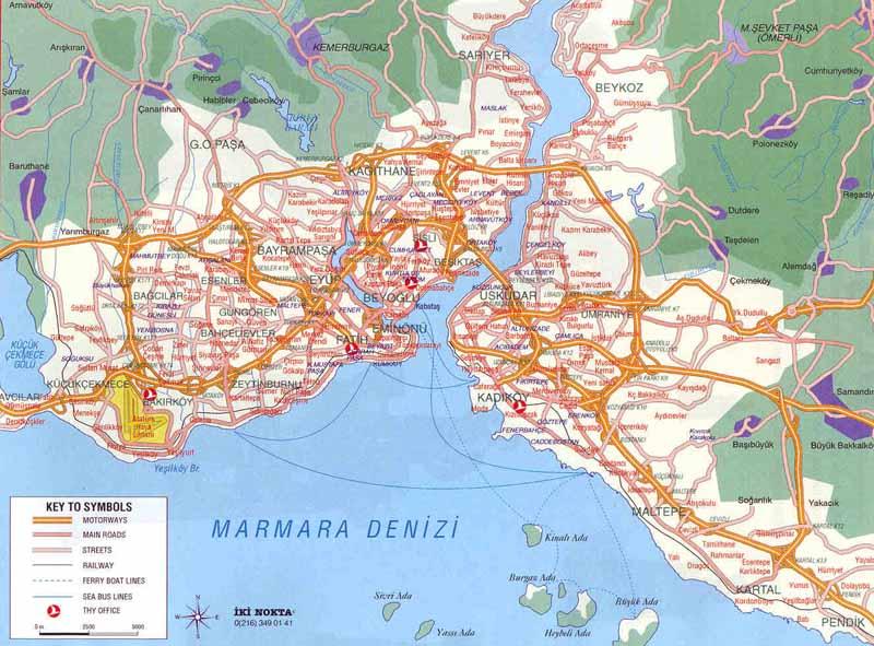 istanbul karta Istanbul Map, Turkey Adiyamanli.org istanbul karta